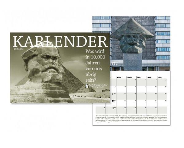 KARLender (Wandkalender mit amüsanten Motiven rund um Karl Marx) handsigniert