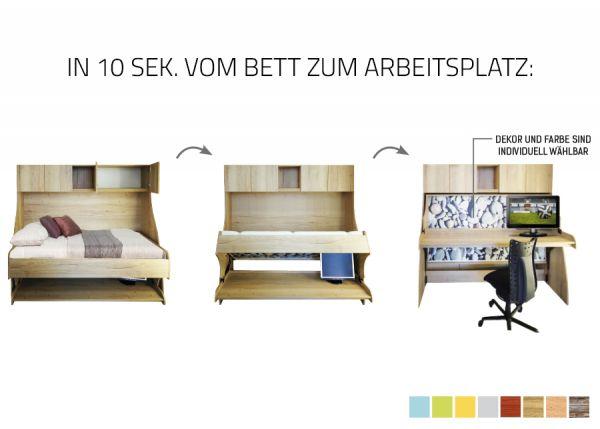 Bettchalor - Bett & Schreibtisch