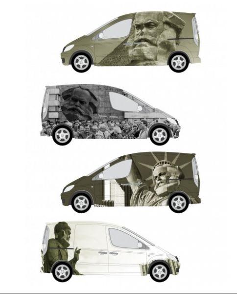 Autofolie Car Wrapping Folie PKW-Beklebung Karl Marx Motiv